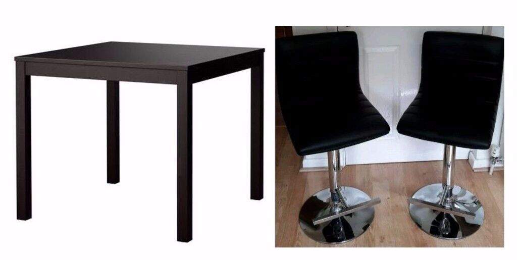 New Ikea Black Bjursta Bar Table 2 Stools Free Delivery 243