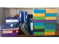 Office Stationery, box files etc.