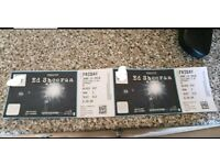 2 ed sheeran tickets for the 15th of June