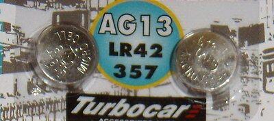 Pile TURBOCAR  de 1,5 volts  AG13 lr42/357 microcel G13-A CNB, 2 pièces.