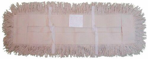 """JaniMop Utility Cut End Cotton Dust Mop, Tie-On, Natural, 48"""" x 5"""" (1 Each)"""