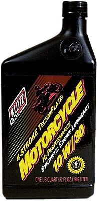 KLOTZ KL-830 Motorcycle TechniPlate Synthetic Oil - 10W/30 - 32 oz - Qty (1)
