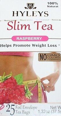 - HYLEYS 100% NATURAL SLIM TEA RASPBERRY 25 TEA  BAGS