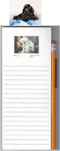List-Pad-with-Pencil-Magnetic-Ruth-Maystead-Art-NEW-Miniature-Poodle-Black