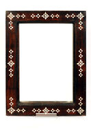 Wooden Mirror from Lombok with Mother of pearl Designs