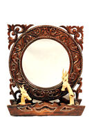 Beautiful Hand Carved Wooden Mirror from Lombok