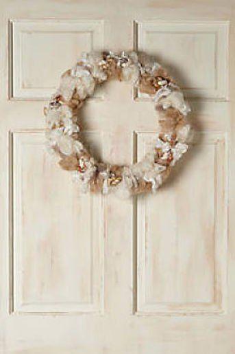 Anthropologie Wool Melange Wreath