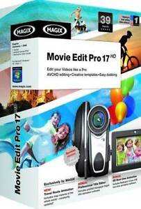 Magix Movie Edit Pro 17 HD - Easy Dubbing Creative Templates Video PC NEW