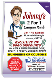 Johnny's 2 For 1 Coupon Book - FREE Shipping for a Limited Time