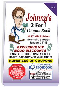 2017 Johnny Coupon Books are now IN-STOCK! 2 for 1