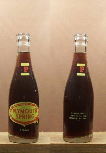 Plymouth Springs Vintage Acl 7 oz Soda Pop Bottle Plymouth 53073 Wisconsin 221
