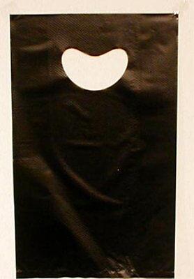 Merchandise Gift Sales Bags Embossed High Density Black Retail Bag 900 Ct