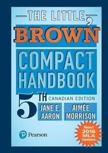 The Little, Brown Compact Handbook, 5th Canadian Edition
