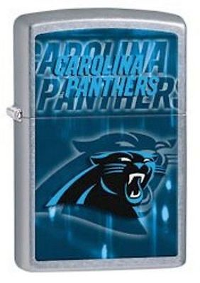 Zippo Street Chrome Lighter With Carolina Panthers Logo, 28603, New In Box