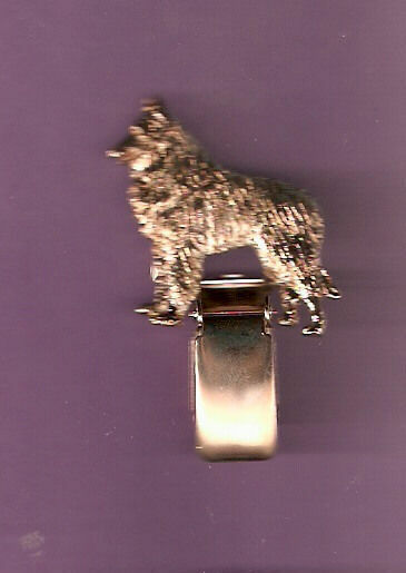 Belgian Shepherd Sheepdog Gold Plated Ring Clip Number Holder Pin Jewelry LAST 1