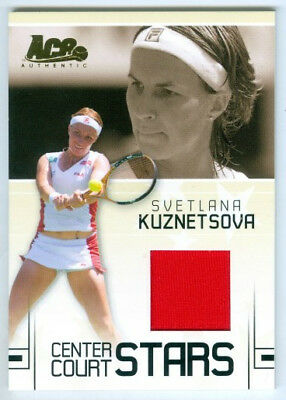 Svetlana Kuznetsova  Center Court Stars Jersey Card Cc19  Ace Grand Slam 2006