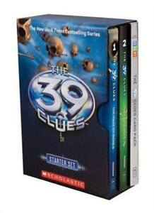 39 Clues Starter Box Set  Hardcover Books 1-2 & Card Pack - NEW