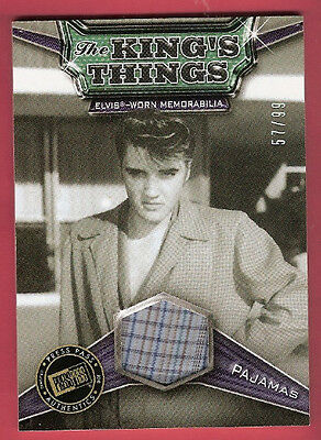 ELVIS PRESLEY WORN PLAID PAJAMA PIECE RELIC #d57/99 ROCK N ROLL KING'S THINGS (Elvis Pjs)