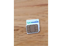 Lycamobile SIM card with£19.81 credit