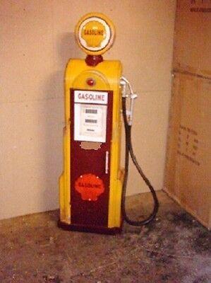 Tanksäule Zapfsäule Gasoline Höhe155cm Dekoration mit beleuchtetem Globe Nr.13