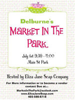 Delburne July 1st Market In The Park~Looking for Vendors!
