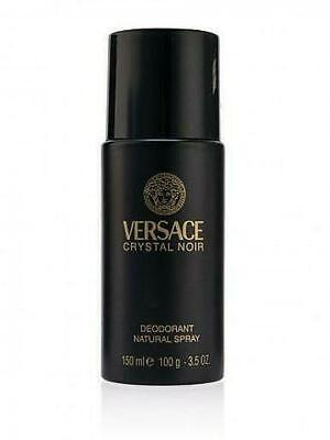 Versace Crystal Noir Deodorant Natural Spray For Women, 3.5oz / 150ml