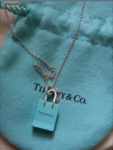 3af6ae1e2 Tiffany & co shopping bag necklace | in Belper, Derbyshire | Gumtree