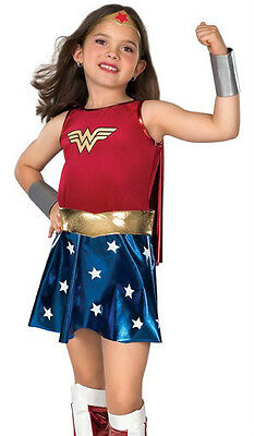 Wonder Woman Costume Child Girls - S 4-6, M 8-10, L 12-14 - Wonderwoman - Fast - - Child's Wonder Woman Costume