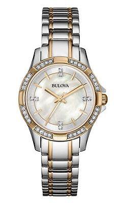 Bulova Women's 98L203 Crystal Markers and Bezel Quartz Two Tone Dress Watch
