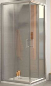 Corner Shower Enclosure - 900mm x 900mm - NEW