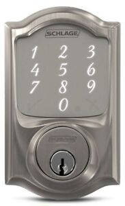 Key-less entry. Touch pad smart door lock Schlage Sense