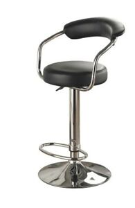 Adjustable Bar Stool with Armrests - 1 pair