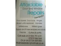 Affordable door and window repairs