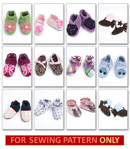 SALE! SEWING PATTERN! MAKE BABY SHOES~BOOTIES 10 STYLES~COWBOY~BASEBALL~ANIMALS!