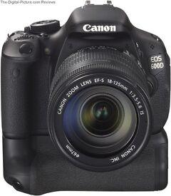 Canon 600D BG-E8 Battery Grip & 55-250mm F4-5.6
