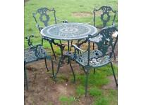 Cast ali garden table and chairs set