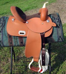 "ISO 13.5"" Circle P barrel saddle"