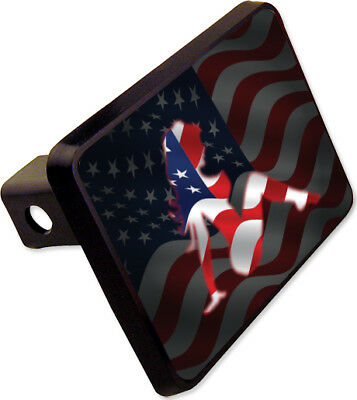 (Mud Flap Girl Trailer Hitch American Flag Cover Plug Novelty)