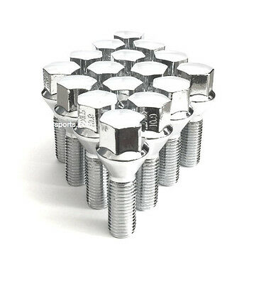 (10) 14x1.25 ACORN CHROME CONICAL CONE SEAT WHEEL LUG BOLTS 40MM MOST BMW (Bmw Chrome Lug Bolts)