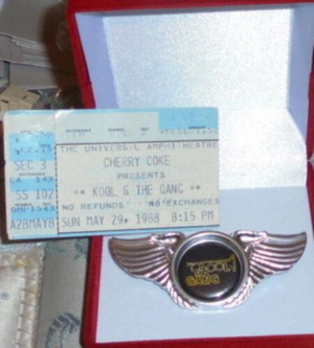 Kool And The Gang Band Concert Jacket Badge Pin R $ B Funk Jungle Hollywood Wild