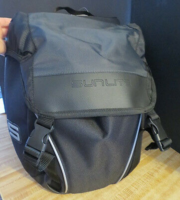 Traveller Pannier - Sunlite Traveler One- Side Pannier Bags- Black/Grey-One pair-both sides
