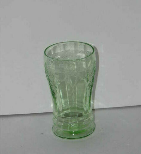 Vintage Green Depression Glass CAMEO Pattern 5 Inch Tumbler