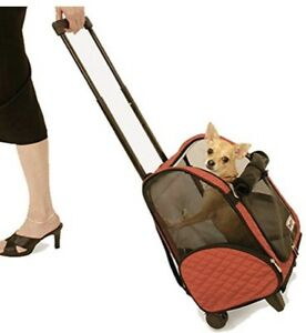 Snoozer Large Roll Around 4-in-1 Pet Carrier, Red