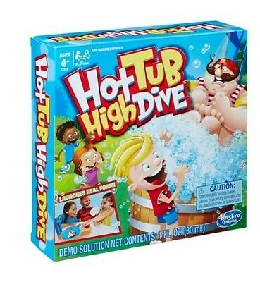 Hot Tub Game (Hot Tub High Dive Board Game - Hasbro Gaming - Launches Real)