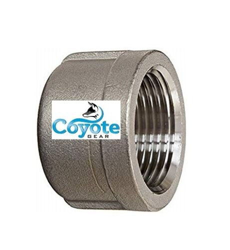 """Cap 1"""" NPT 304 SS Pipe Thread Fitting Stainless Steel Class 150# Coyote Gear"""