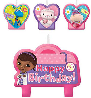 DOC MCSTUFFINS  Birthday Party CANDLES 4 cake cupcakes 4pc Lambie Hallie Stuffy](Doc Mcstuffins Birthday Party)