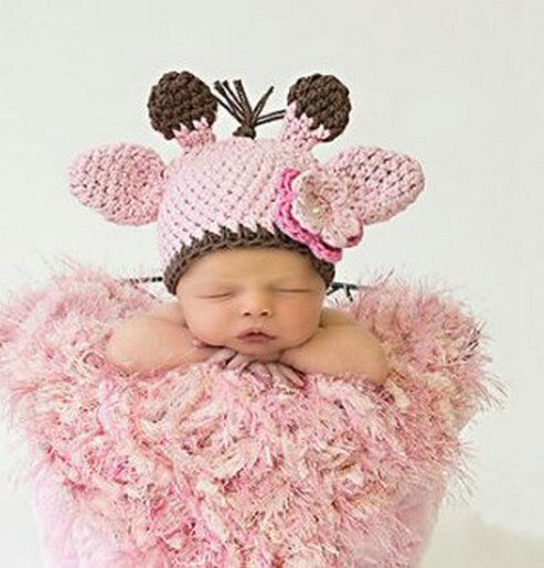 Newborn Baby Girls Boys Hat Crochet Knit Costume Photo Photography Prop Outfits