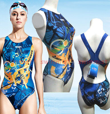 [NWT] YINGFA 998-1 COMPETITION TRAINING RACING SWIMSUIT S US GIRLS 10-12 MISS 2!