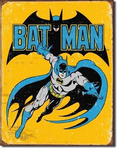 DC Comics Batman Retro Comic Art Tin Sign Poster Reproduction, NEW UNUSED