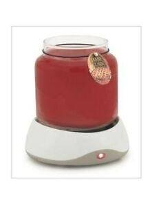 NIB-Auto-Shut-Off-Electric-CANDLE-WARMER-fits-Candle-Jars-5-1-4-diam-or-less